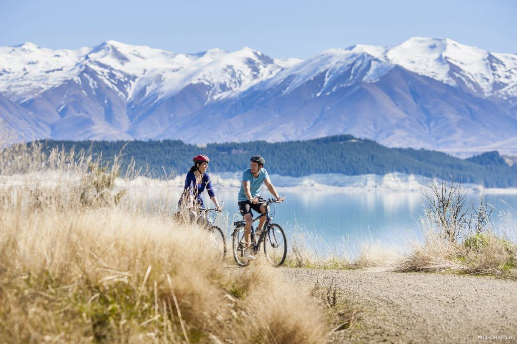 Biking in der Mount Cook Region